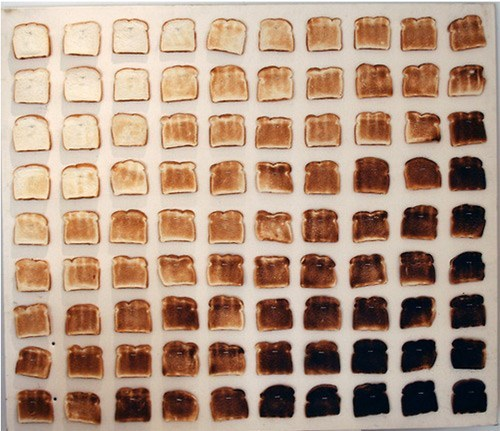 Artsy Fart of the Day: 90 Shades of Toast