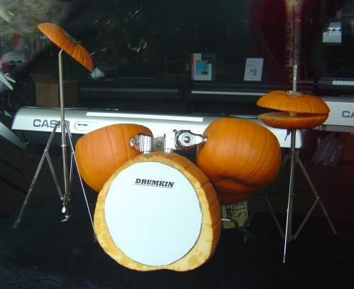 pumpkin drumset musical instrument