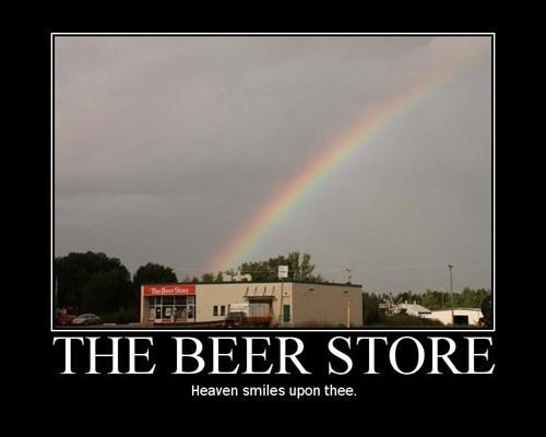 god,beer,funny,rainbow