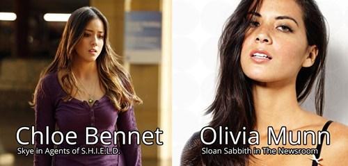 Olivia Munn,chloe bennet,totally looks like,funny