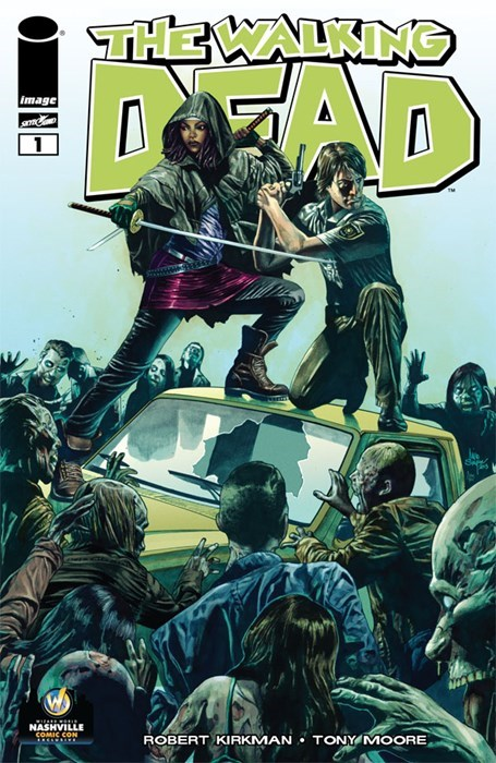 7th Exclusive Wizard World Cover For 'The Walking Dead #1""