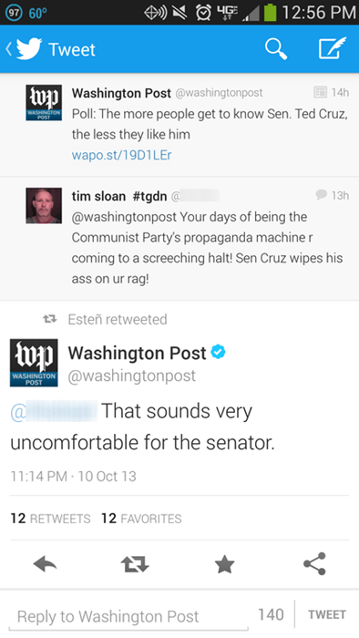 Washington Post Ain't Havin' None a' Your Sass!