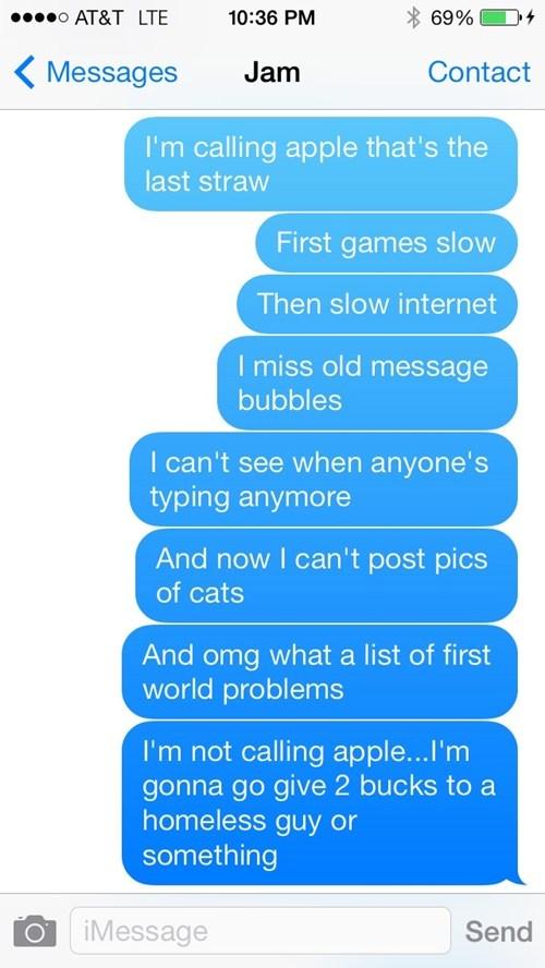 First World Problems,apple,epiphany,AutocoWrecks