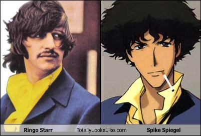 the Beatles,ringo star,totally looks like,spike spiegel,cowboy bebop
