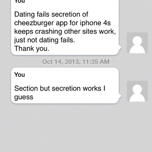 Secretions Can Lead to Dating Fails...