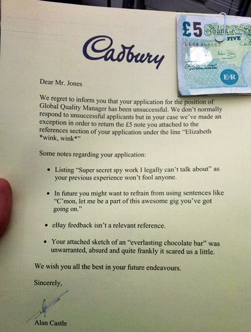 How Not to Get Hired at Cadbury