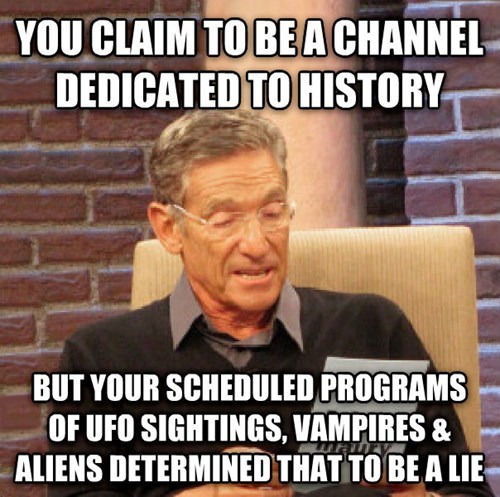 Memes,history channel,maury