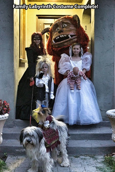 This Family Costume Nailed Labyrinth For Halloween