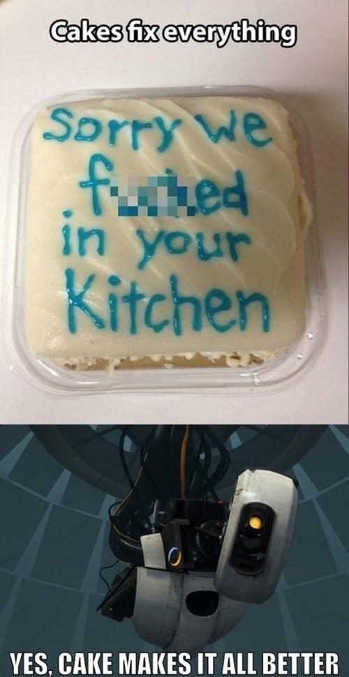 lies,cakes,Portal,gladOS