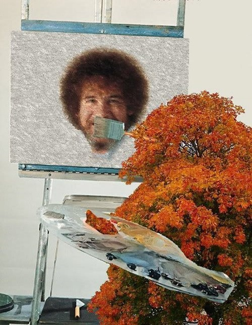 Painting a Happy Little Bob Ross