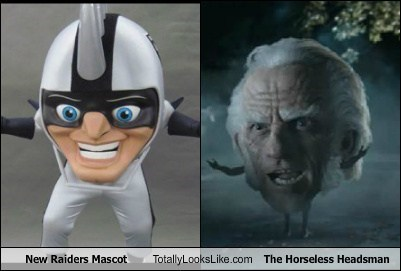 the horseless headsman,wtf,totally looks like,mascots,radiers,funny