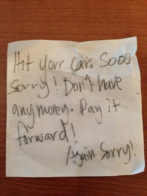 Pay it Forward and Trash Someone Else's Car!