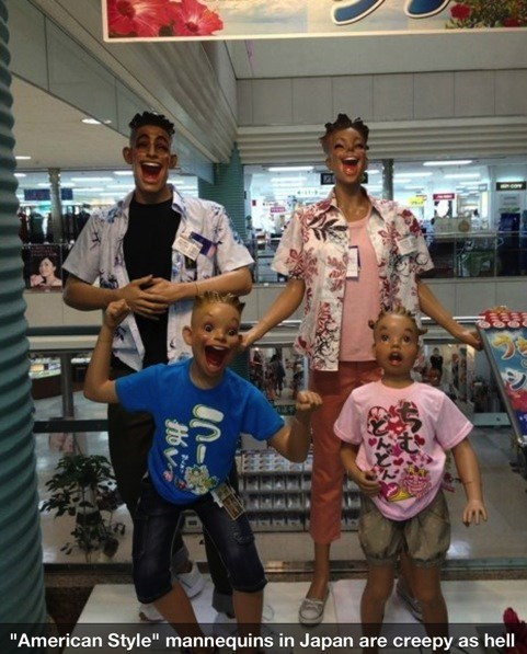 Weird Mannequins in Japan? Who'd Think That?
