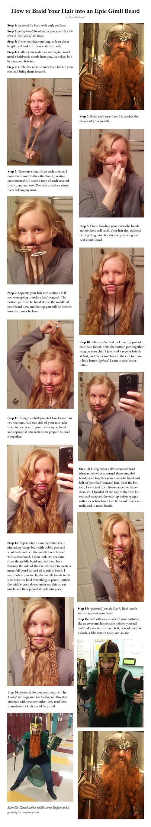 How to Braid Your Hair into an Epic Gimli Beard