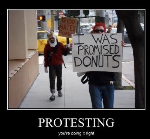 donuts,wtf,Protest,funny