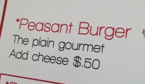 Burgers for the Bourgeoisie