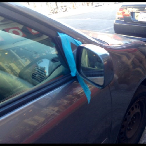 side mirror,cars,tape,there I fixed it