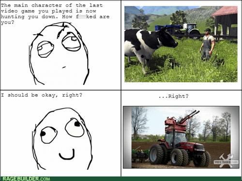 computer games,video games,farming simulator,main character hunt,cows