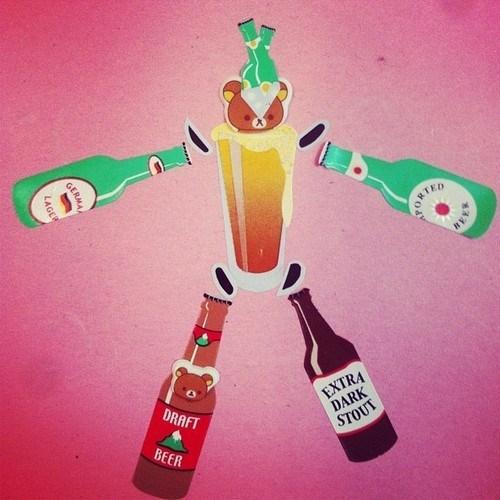 beer,wtf,art,bear,funny,mech