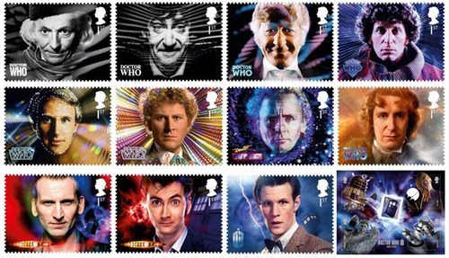 stamps,doctor who,50th anniversary