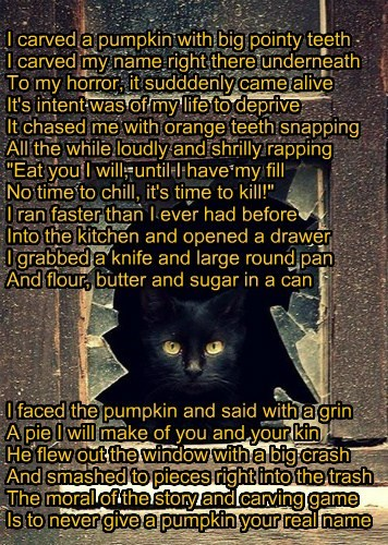 KKPS Hollyween:  Scary Pumpkin Poem