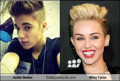 Justin Beiber Totally Looks Like Miley Cyrus