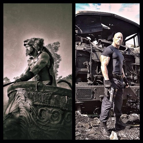 The Rock Tweets Stills as Hercules And Hobbes