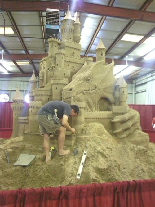 dragon,sand castle,design,nerdgasm,funny