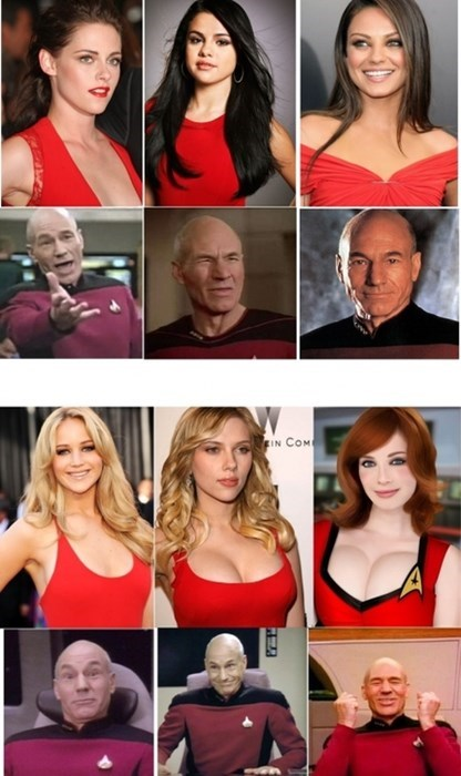 TNG,command red,Star Trek,celeb
