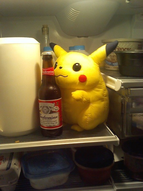 Pikachu Hides in Your Fridge and Drinks Your Beer