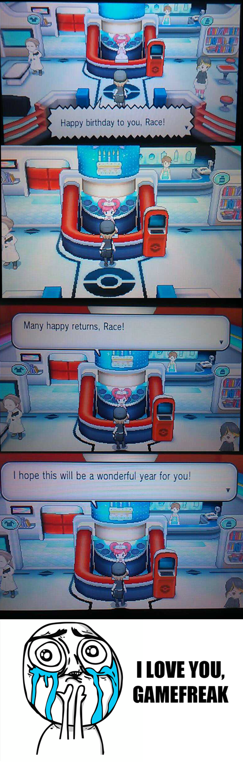 Thanks for the Birthday Wishes Game Freak!