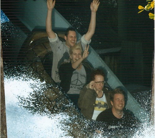 With glasses in a water ride, no good idea