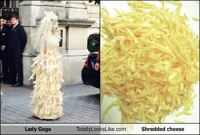 Lady Gaga Totally Looks Like Shredded Cheese