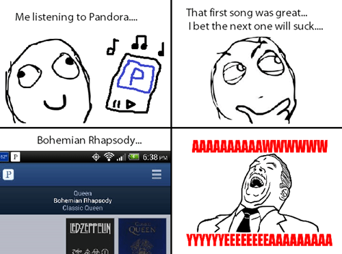 queen,Music,freddie mercury,aww yeah,bohemian rhapsody,pandora