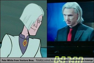 Pete White From Venture Bros. Totally Looks Like Benedict Cumberbatch as Assange