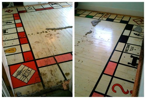 Hidden Treasure of the Day: Giant Monopoly Board Found Under Carpeting