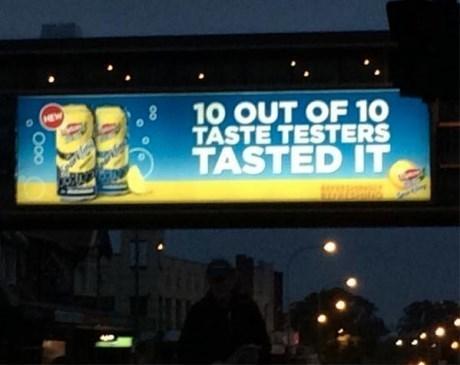 advertising,drinks,taste testers