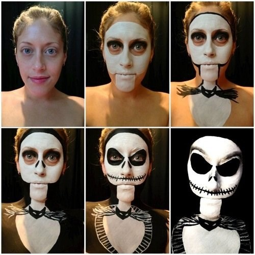 A Quick Look at How to Paint Your Face Like the Jack Skellington