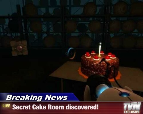 Breaking News - Secret Cake Room discovered!