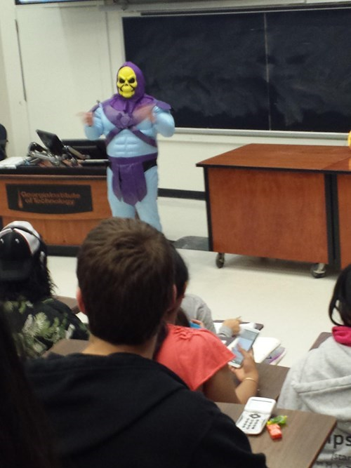 costume,physics,skeletor,halloween,teachers,he man,funny,g rated,School of FAIL