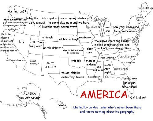 America (as Labeled by an Australian)