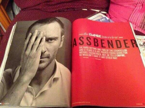 design,accidental gross,magazine,michael fassbender,funny,fail nation