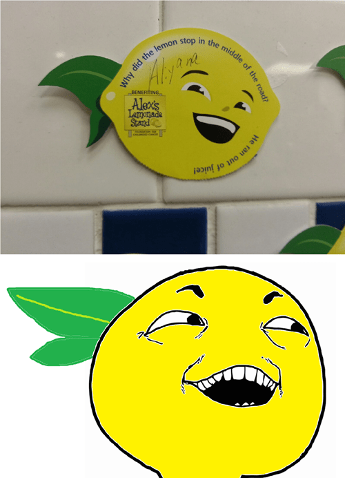 lemonade,I see what you did there,lemon face