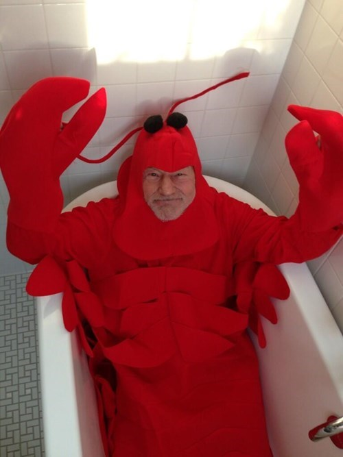 costume,lobster,halloween,patrick stewart