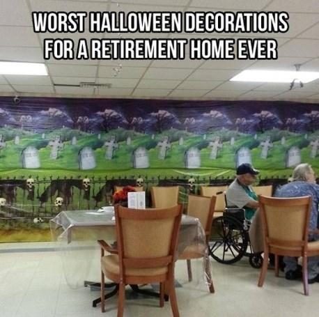 halloween decorations,retirement home,halloween