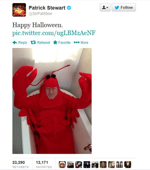 Sir Patrick Stewart Wins Halloween