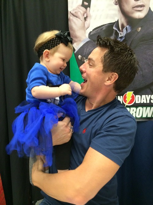 John Barrowman and The TARDIS