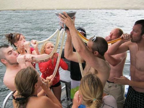 beer bongs,drunks,safety,funny,life jackets