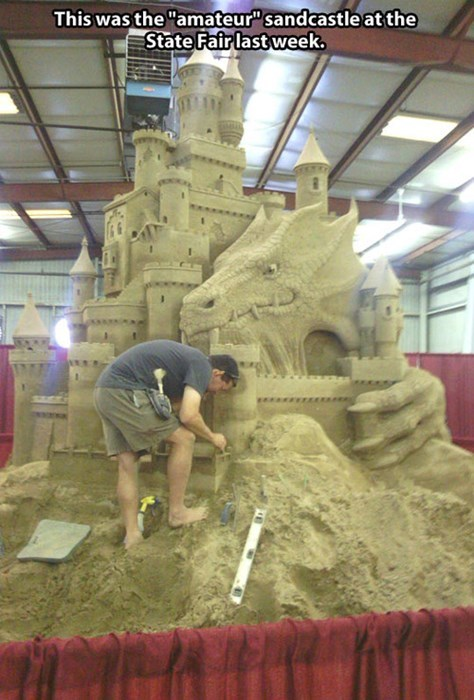 Don't Even Try to Enter This Amateur Sandcastle Competition