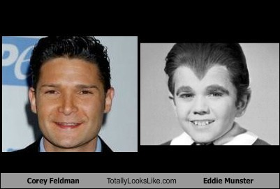 corey feldman,eddie munster,totally looks like